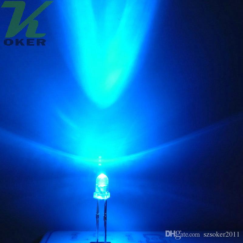 La lampada chiara blu rotonda della radura del LED dell'acqua 1000pcs 3mm ha condotto le lampade principali blu diodi 3MM Trasporto libero