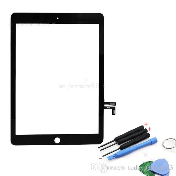 High quality Guarantee For ipad 5 ipad Air touch screen Digitizer Top Outer Glass front Panel assembly with Tools Black Color