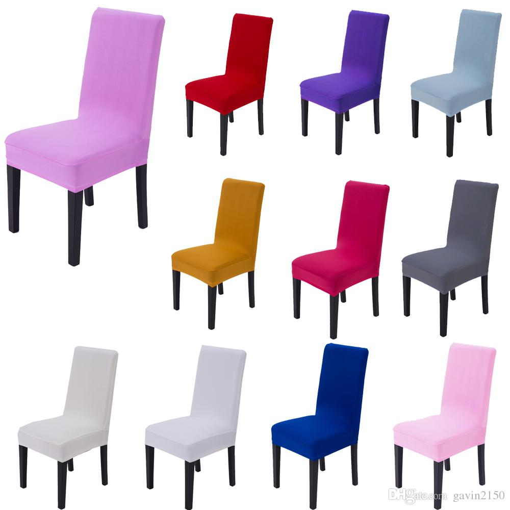 Free Shipping Hot Selling Universal Spandex Dining Home Chair Cover In 14 Colors For Home Wedding Banquet