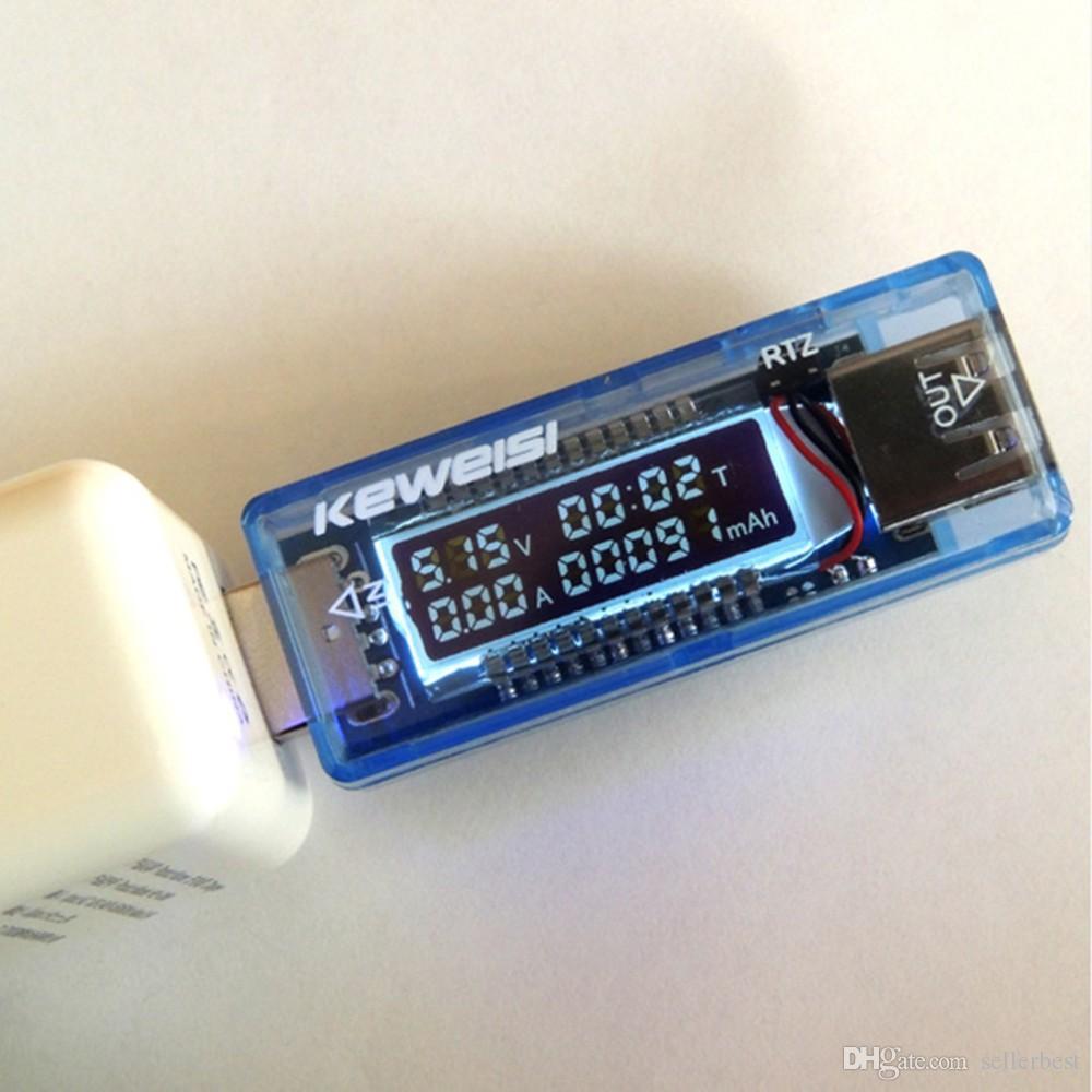 KEWEISI KWS-V20 USB 전압 전류 전압 닥터 충전기 용량 테스터 미터 전원 은행