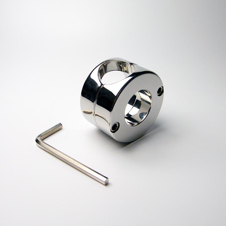 Anello in acciaio inox Peso Scroto Anello pene testicolo Dispositivo di ritenuta Prodotti sessuali per adulti 620g Ball Barella 2015 NUOVO
