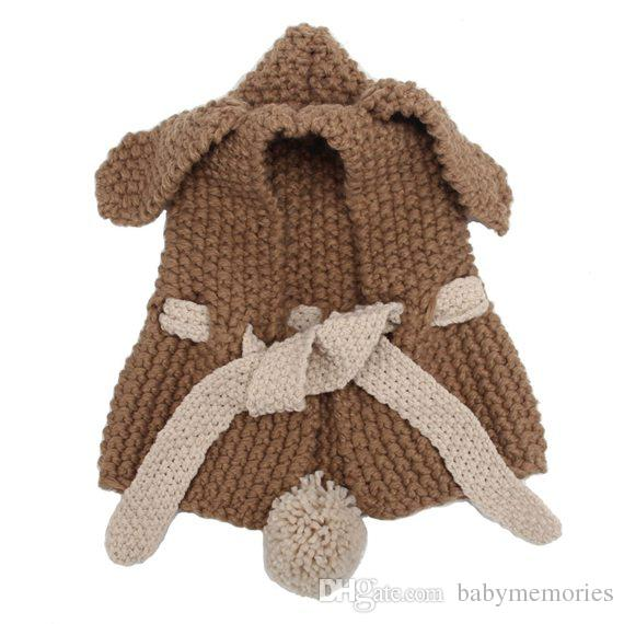 Compre Bebé Conejito Oído Invierno Sombrero Niños Crochet Sombreros ...