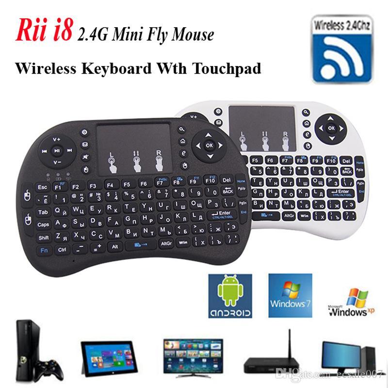 Fly Air Mouse Rii i8 영어 키보드 원격 제어 터치 패드 휴대용 키보드 TV 박스 PC 노트북 태블릿 미니 PC 용