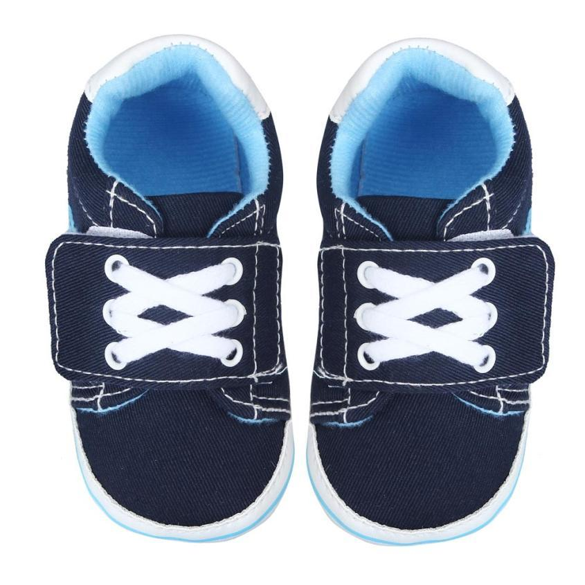 Wholesale- 2015 Baby Boy Shoes Soft Infant Toddler First Walkers Shoes Casual Sneaker Soft Bottom Patwork Canvas Baby Shoes