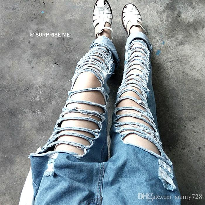 2017 Spring Summer Leisure Fashion Women Jeans 2016 Latest Loose ...