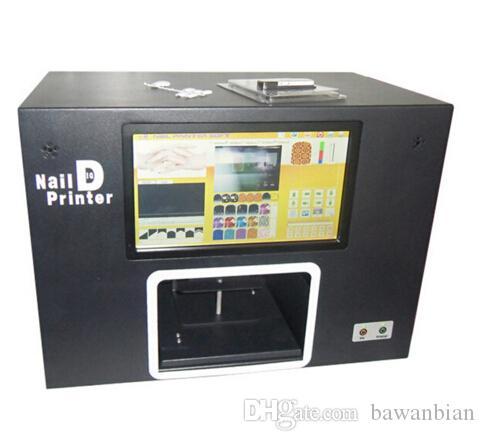 새로운 업그레이드 된 CE 승인 컴퓨터 빌드 네일 프린터 내부 빌드 5 손톱 인쇄 기계 디지털 네일 프린터 무료 배송