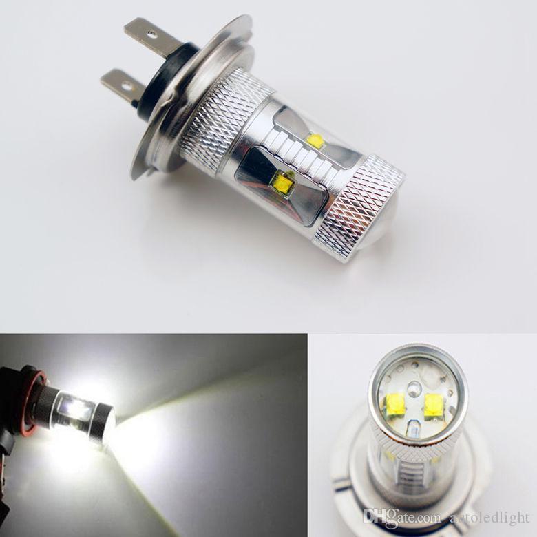 Lighting White 30W H1/H3/H4/H7/9005/9006/9007 LED Fog Light Bulb 12VDC car front driving drl Lamp