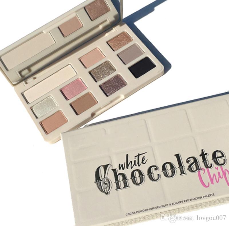Em estoque !! Novo Chip De Sombra De Chocolate 11 cores Maquiagem Profissional paleta da sombra Branco e Fosco Maquiagem Sombra DHL grátis