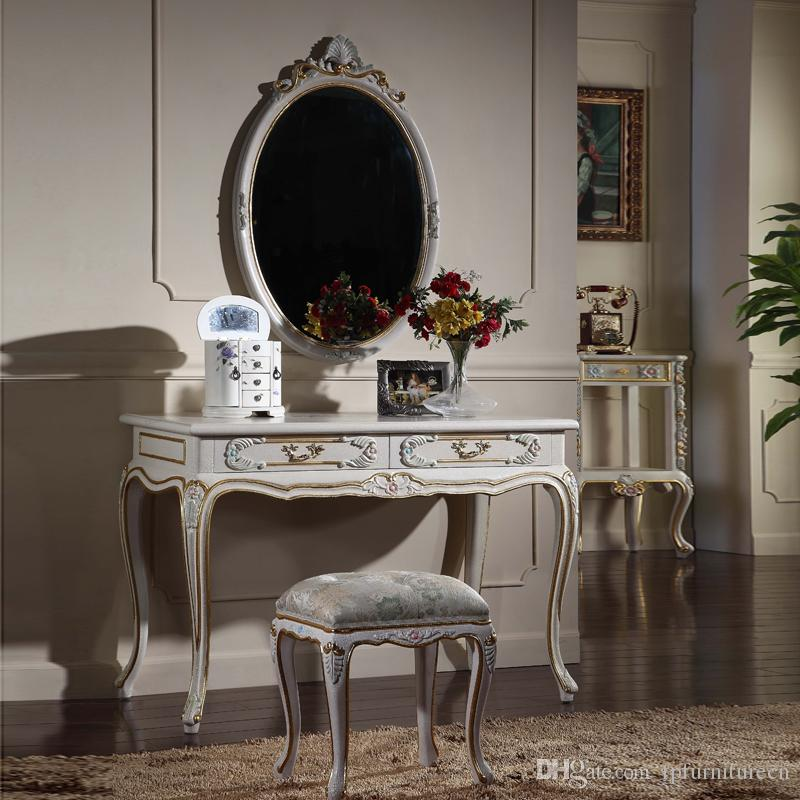 2019 French Provincial Furniture Luxury European Royalty Classic Bedroom  Furniture Set Cracking Paint Dressing Table And Mirror From Fpfurniturecn,  ...