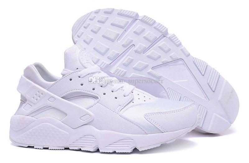Formateurs de vente en gros Huarache Classic Hommes Sports Chaussures de course - Blanc Taille 5.5--11