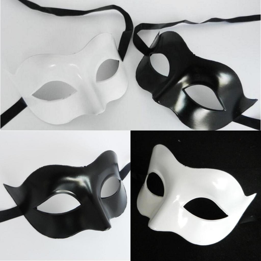 Mujeres Negro Blanco Fox Forma Máscara de Halloween Mascarada Máscaras Party Performance Carnival Mask Bar Club Mostrar Mascarilla