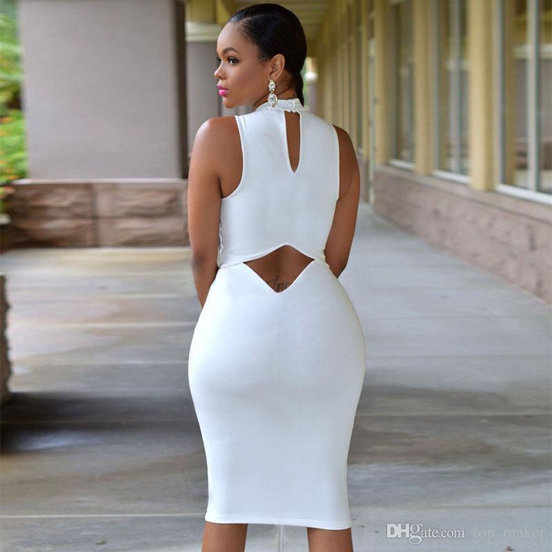 2018 Europe Style Women Plus Size White Black Cutout Back Turtle