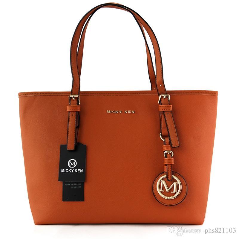 borse famose delle donne di modo di marca MICKY KEN borse di cuoio dell'unità di elaborazione delle donne famose borse di marca della borsa della borsa della borsa di marca del progettista 6821 femminile