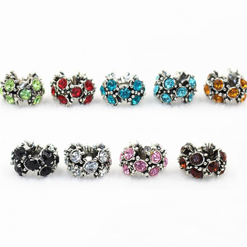 Shining Crystal Charm Bead 925 Argento Placcato Fashion Donne Gioielli Stunning Design Stile europeo per la collana del braccialetto Pandora