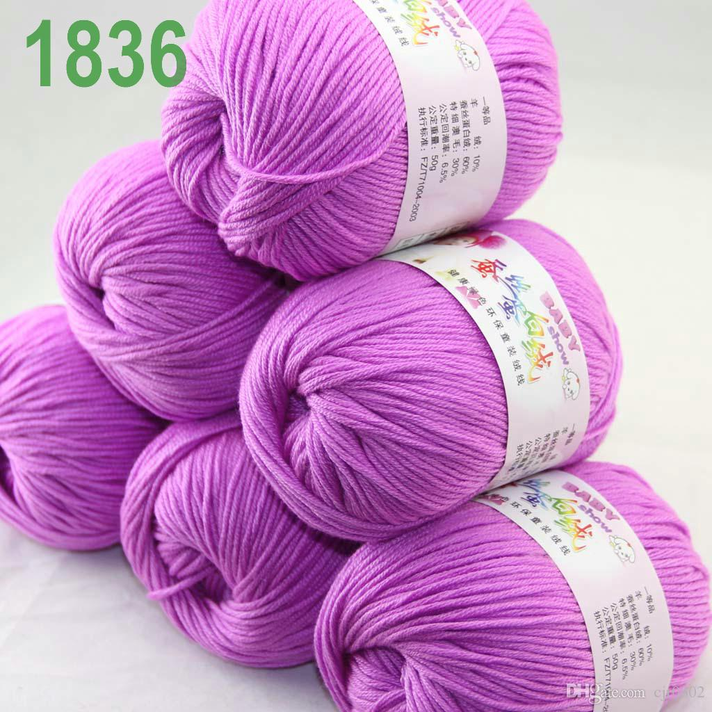 Sale Lot of 6 balls x 50g Cashmere Silk velvet Children Yarn Iris pink 18-36