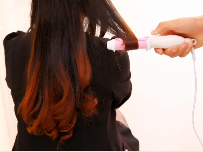 mini portable 26MM Tourmaline Ceramic Hair Curling Iron Handy Mini Hair Curlers Wand 360 Rotatable hair styling curl tool