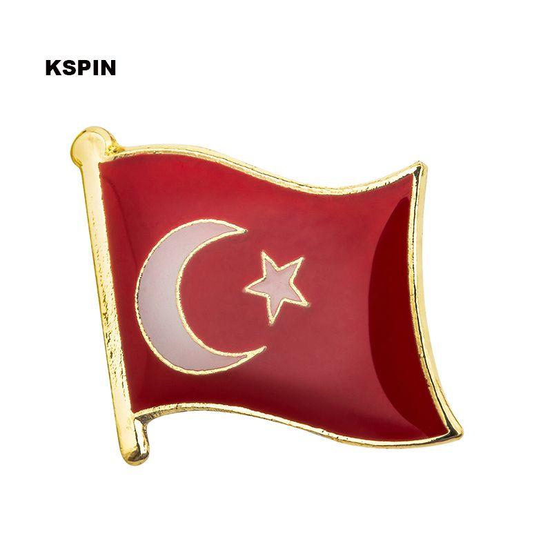 Trasporto libero il distintivo della bandiera del distintivo della bandiera del metallo della Turchia KS-0075