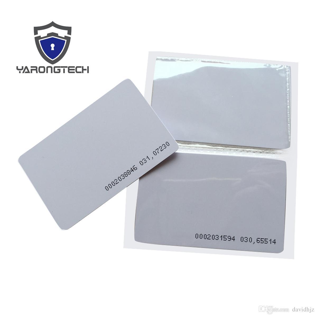 TK4100 4102 / EM 4100 tarjeta RFID en blanco con UID impresa