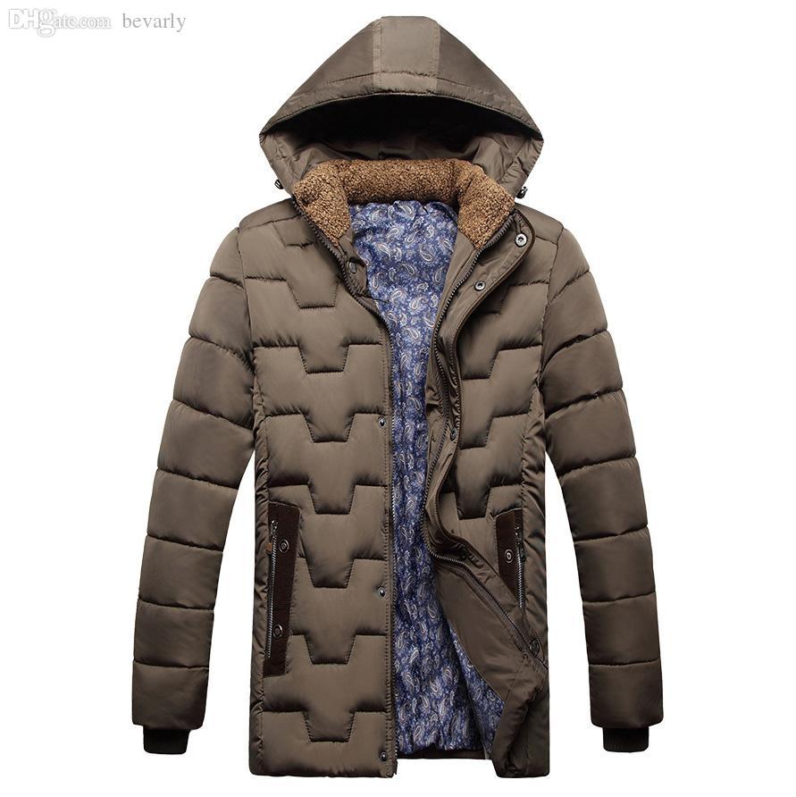 Herbst-Neue 2015 Marke Winterjacke Männer verdicken warme lässige Parka Herren gepolsterte Winterjacke Casual Handsome Kapuzenmantel Männlich MCJ21