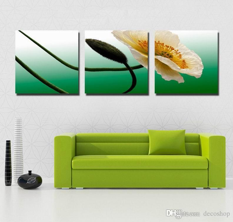 Modern Beautiful Flower Fine Floral Painting Giclee Print On Canvas Home Decor Wall Art Set30289