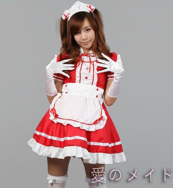 Japonés mayorista-adulto Hatsune Miku !! Sexy disfraz de Halloween Ruffle negro Lolita Maid Outfit Cosplay disfraces