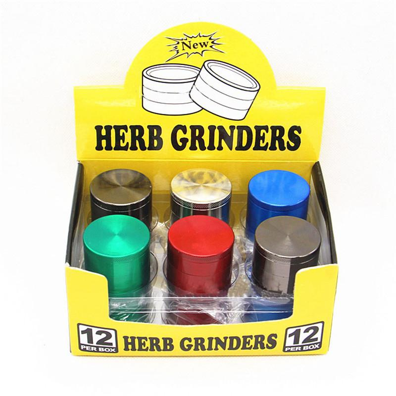 Herb Rrinder Muti Smerigliatrice per fumo colorata Taglia smerigliatrice in metallo CNC Smerigliatrice di tabacco 4 parti Disegni mix