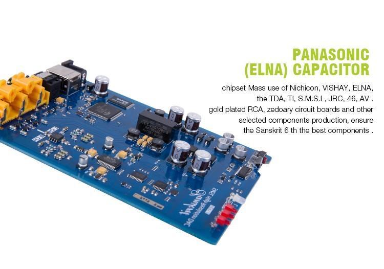 SMSL Latest 6th Sanskrit USB DAC 32BIT192Khz Coaxial SPDIF Optical Hifi Audio Amplifier Decoder New Version With Power Adapter 6
