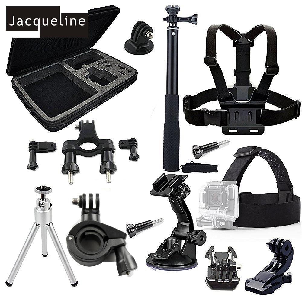 Freeshipping Accessories Kit For GoPro Hero 5 4 Session Black Silver Hero+ Lcd 3+ 3 2,GeekPro 2.0 3.0 4.0 SJ4000 SJ5000 H9R H9