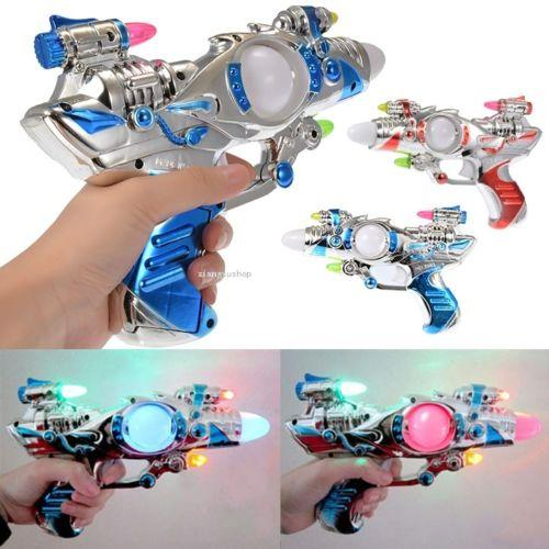 """""""Led Toys New Children Kid Super Spinning Laser Space Gun Toy With LED Light Colorful Bright Flash Music Electric Eight Stalls Selling Light"""