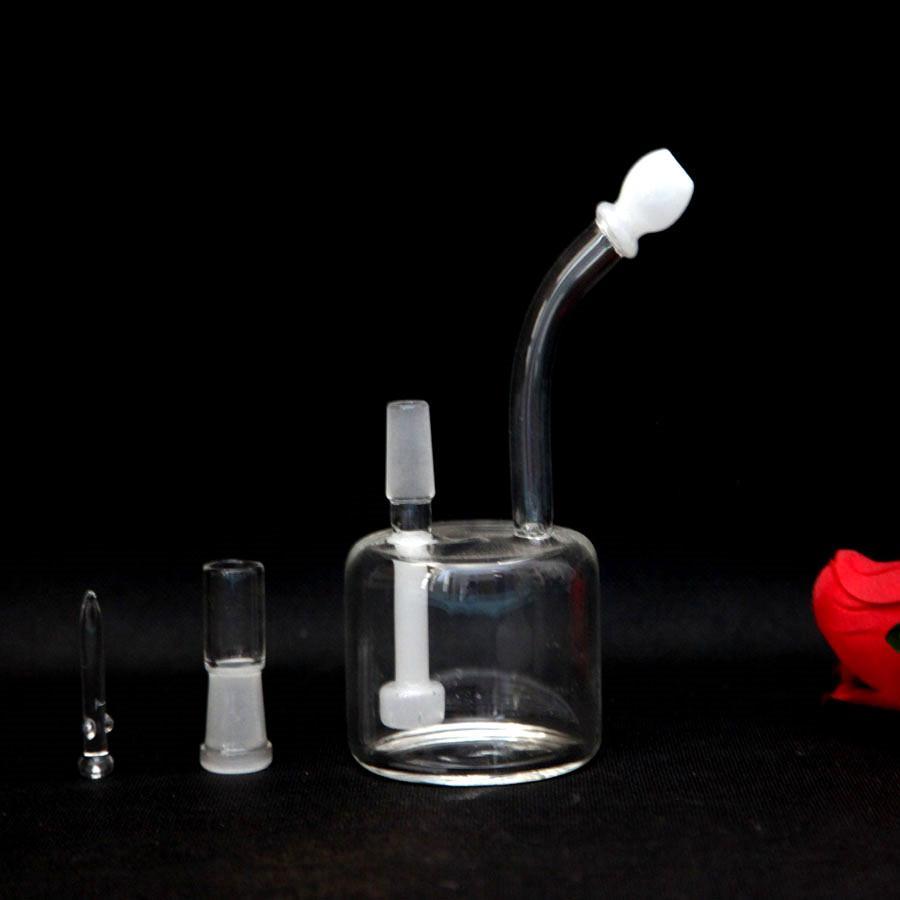 Tubos de agua para fumar baratos y de buena calidad con cúpula libre y clavo Bong de vidrio, altura de 15 cm, junta de 14.5 mm