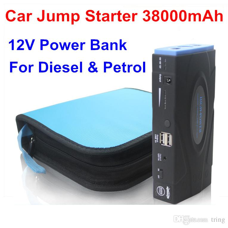 High Quality 38000mAh Multi-Function Car jump starter Battery Charger car battery pack Mobile phone Power Bank Laptop Rechargeable Battery
