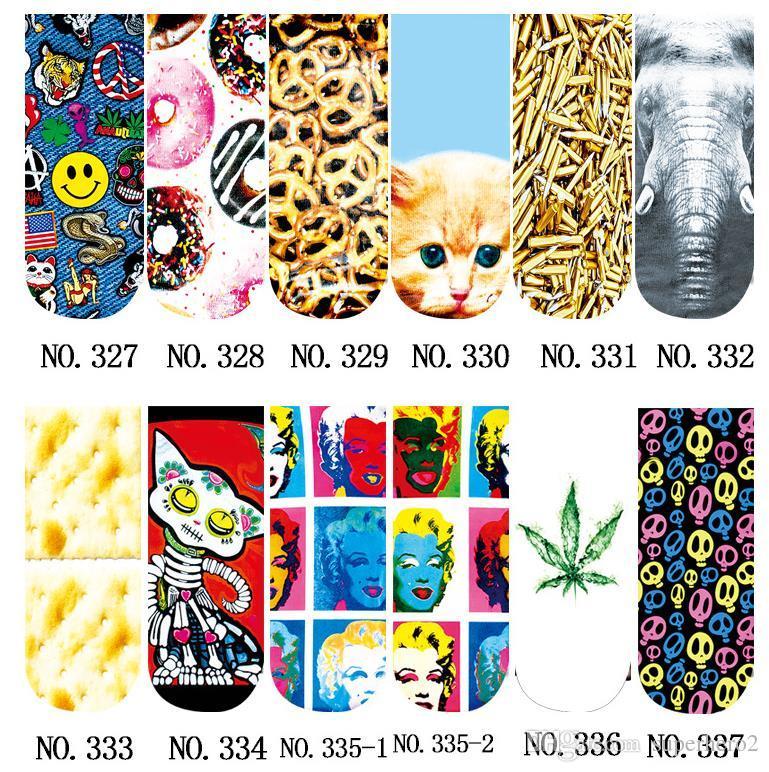 Casual Femmes Mode Low Cut Ankle Socks Coton 3D Imprimé Dame Filles Doux Cartoon Pantoufles Chaussette Cosplay les accessoires 467 Modèles pour choisi cadeau