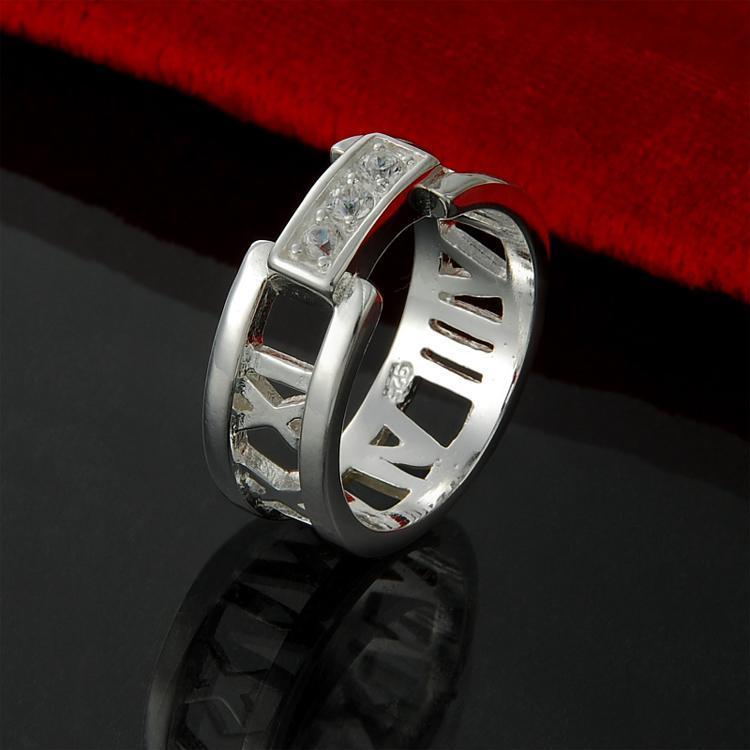 Venta al por mayor directa de fábrica al por menor de China 925 anillo de plata esterlina perforación 3 joyería de plata esterlina de la moda de Roma