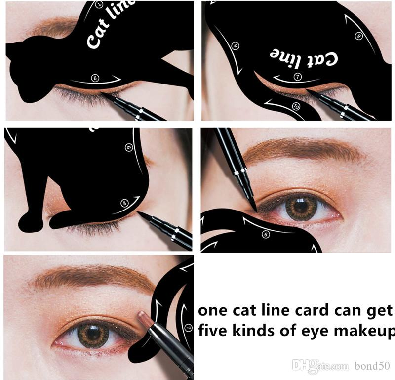 photo about Printable Eyeliner Stencils identified as 2 Within just 1 Cat Eyeliner Stencil Eye Cat Template Card Makup Card Straightforward Make-up Suggestions Plastic Equipment Black Printable Eyebrow Stencils Forehead Filler Against Bond50,