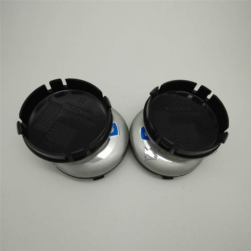 Car Styling High Quality Waterproof Car Wheel Hub Rim Center Caps for Volvo 64mm ABS Car Wheel Center Hub Caps