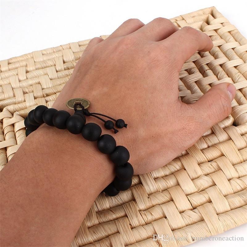 Fashion New Unisex Women Boys Men's Wood Buddha Buddhist Prayer Bead Tibet Bracelet Mala Bangle Wrist Ornament Free Shipping