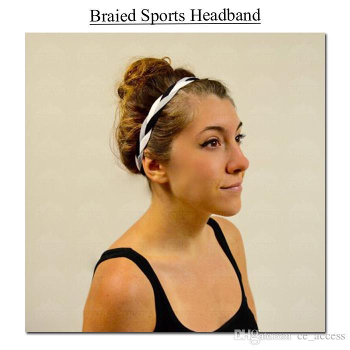Skinny Braided Headband Anti-Slip sports headband