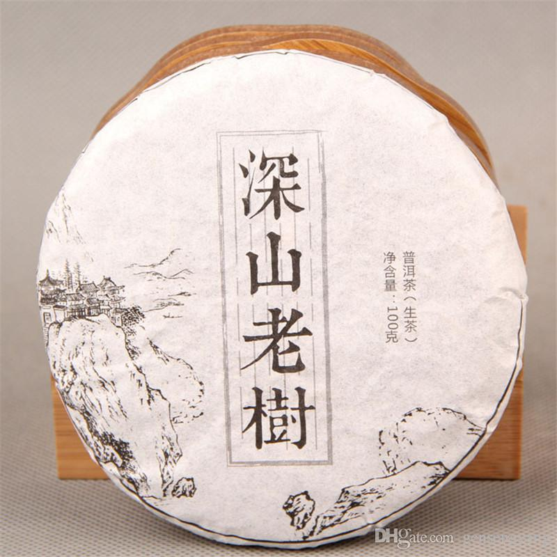 100g Raw Puer Tea Cake Deep Mountain Ancient Rhyme Handmade Organic Natural Puerh Old Tree Puer Green Food Preferred