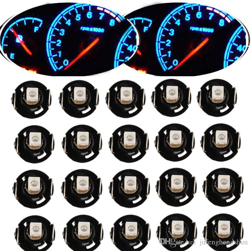 10/20Pcs Instrument LED Light Bulb T4 T4.2 2835 1SMD White Blue Red Green Neo Wedge Meter Panel Gauge Climate Control LED Bulb Universal