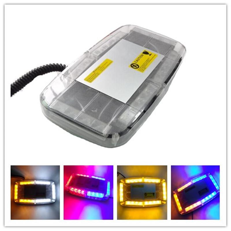 1X 12 24 V LED 5Color Car Emergency Hazard Warning Strobe Flash Flashing Car Styling Truck LED Top Roof Bar Strobe Warning Light