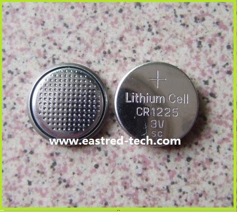 pilhas botão 10000pcs CR1225 3V lítio