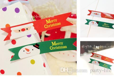 500sheets (4000pcs) 산타 클로스 눈사람 깃발 물개 스티커 DIY 선물 스티커 쿠키 물개 스티커