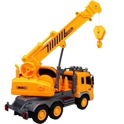 3d light music large crane truck toy car inertia baby boy children plastic toy truck toys for boys engineering diecast vehicles car model from