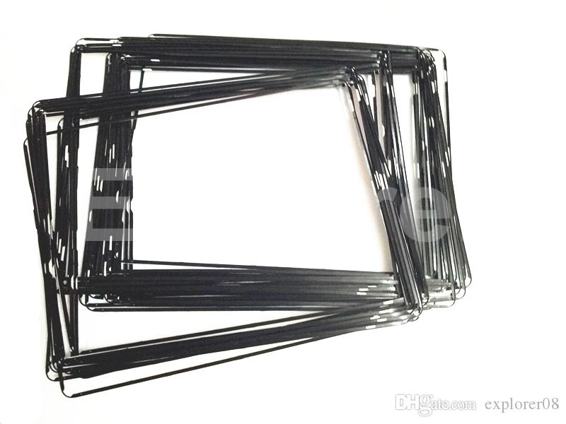 New Plastic Mid Frame middle bezel with adhesive Black White for iPad 2 3 4 Middle frame Bezel 100pcs Lot