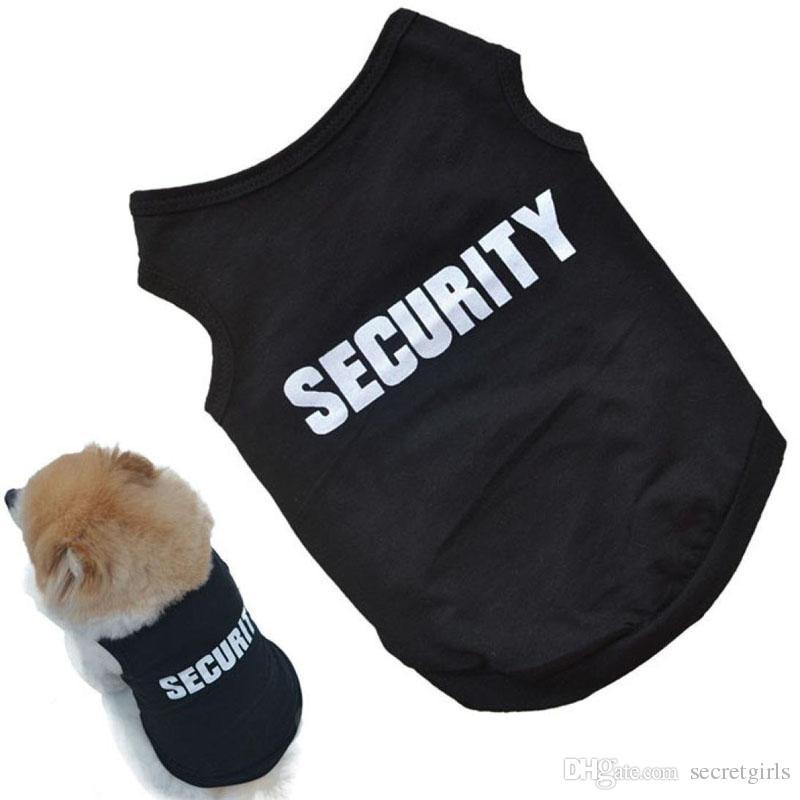 Acheter Mode Chien Vêtements Pet Chiot Vêtements Citation Sécurité Coton Costumes Pet Dog Vêtements Chiens Drôle Chemise T Shirt De 47 54 Du