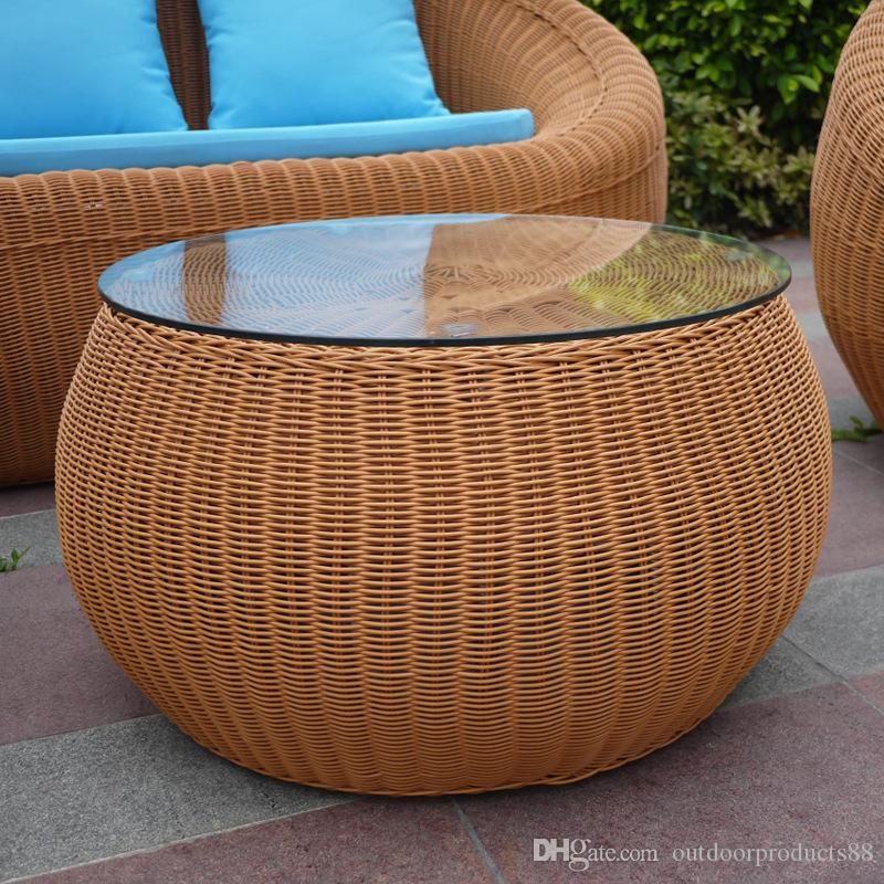 Best Seller Rattan Wicker Chair Sofa Table Combination,Patio Balcony Rattan  Wicker Table And Chairs