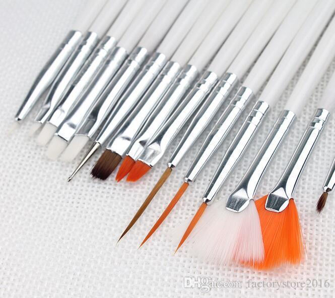 15pcs Nail Art Polish Painting Brushes Cosmetic DIY Draw Pen Tips Set Tools Pro NailArt Liner Design Brush Kit