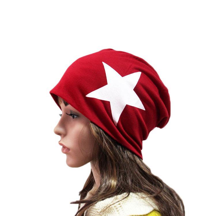 Men women Winter Knitted Beanies Skullies Five-pointed Star Knit Hats Add Velvet Outdoors Skis Caps Women Bonnet Unisex Bone Touca