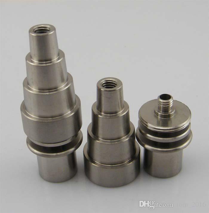 2016 Nuovo 10/14 / 18mm malefemale regolabile grado 2 Domeless chiodo chiodo senza chiodo in titanio per bobina di lumaca da 15,8mm