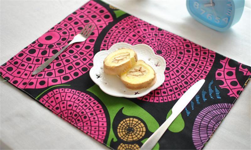 Tableau de haute qualité Tapis Vaisselle Tapis Tapis Commerce extérieur créatif tapis en tissu d'impression d'isolation thermique serviette tapis de table anti-repassage